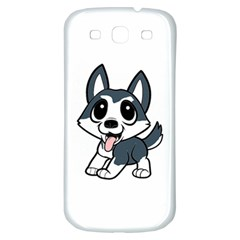 Pomsky Cartoon Samsung Galaxy S3 S III Classic Hardshell Back Case
