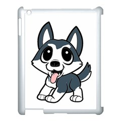 Pomsky Cartoon Apple iPad 3/4 Case (White)