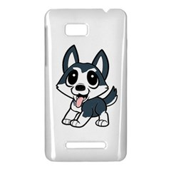 Pomsky Cartoon HTC One SU T528W Hardshell Case
