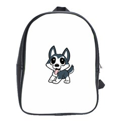 Pomsky Cartoon School Bags (XL)
