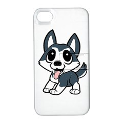 Pomsky Cartoon Apple iPhone 4/4S Hardshell Case with Stand