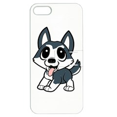 Pomsky Cartoon Apple iPhone 5 Hardshell Case with Stand
