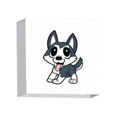 Pomsky Cartoon 4 x 4  Acrylic Photo Blocks