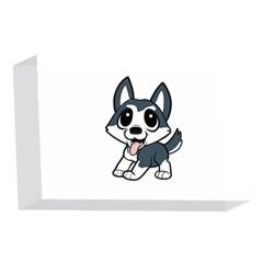 Pomsky Cartoon 4 x 6  Acrylic Photo Blocks
