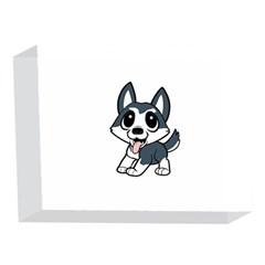 Pomsky Cartoon 5 x 7  Acrylic Photo Blocks
