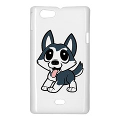 Pomsky Cartoon Sony Xperia Miro