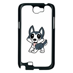 Pomsky Cartoon Samsung Galaxy Note 2 Case (Black)