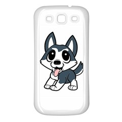 Pomsky Cartoon Samsung Galaxy S3 Back Case (White)