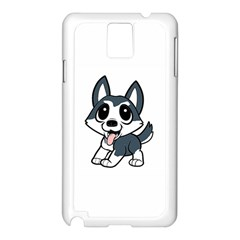 Pomsky Cartoon Samsung Galaxy Note 3 N9005 Case (White)