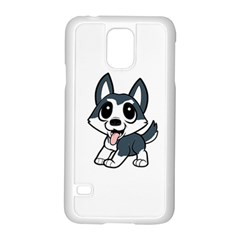 Pomsky Cartoon Samsung Galaxy S5 Case (White)