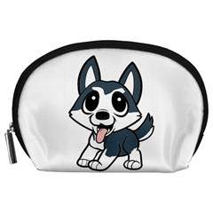 Pomsky Cartoon Accessory Pouches (Large)