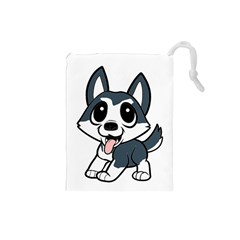 Pomsky Cartoon Drawstring Pouches (Small)