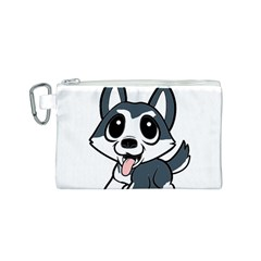 Pomsky Cartoon Canvas Cosmetic Bag (S)