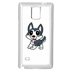 Pomsky Cartoon Samsung Galaxy Note 4 Case (White)