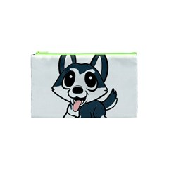 Pomsky Cartoon Cosmetic Bag (XS)