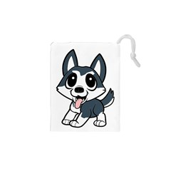 Pomsky Cartoon Drawstring Pouches (XS)
