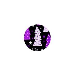 Purple Playful Xmas 1  Mini Buttons
