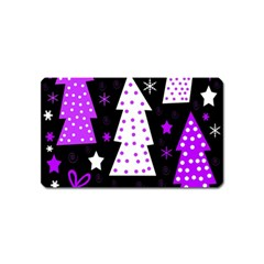 Purple Playful Xmas Magnet (Name Card)