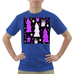 Purple Playful Xmas Dark T-Shirt