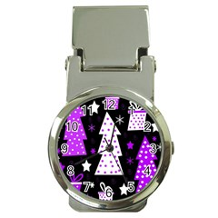 Purple Playful Xmas Money Clip Watches