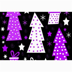 Purple Playful Xmas Collage Prints