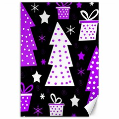 Purple Playful Xmas Canvas 12  x 18