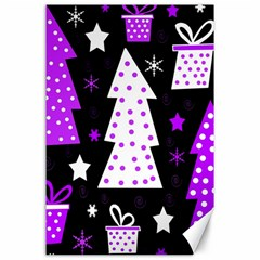 Purple Playful Xmas Canvas 24  x 36