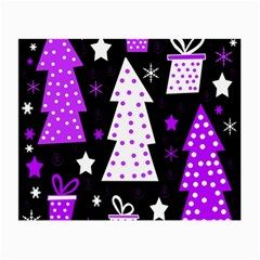 Purple Playful Xmas Small Glasses Cloth (2-Side)