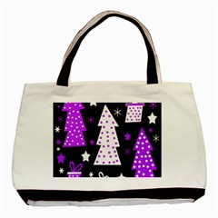Purple Playful Xmas Basic Tote Bag (Two Sides)