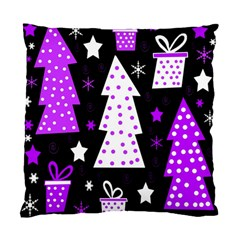 Purple Playful Xmas Standard Cushion Case (Two Sides)