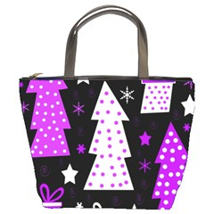 Purple Playful Xmas Bucket Bags