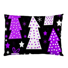 Purple Playful Xmas Pillow Case