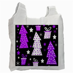 Purple Playful Xmas Recycle Bag (One Side)