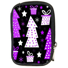 Purple Playful Xmas Compact Camera Cases