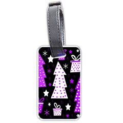 Purple Playful Xmas Luggage Tags (Two Sides)