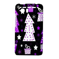 Purple Playful Xmas HTC Vivid / Raider 4G Hardshell Case