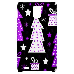 Purple Playful Xmas Samsung Infuse 4G Hardshell Case