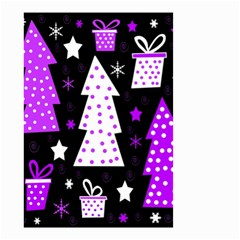 Purple Playful Xmas Small Garden Flag (Two Sides)