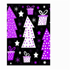 Purple Playful Xmas Large Garden Flag (Two Sides)