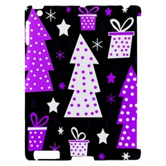 Purple Playful Xmas Apple iPad 2 Hardshell Case (Compatible with Smart Cover)