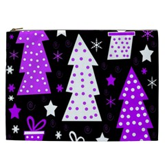 Purple Playful Xmas Cosmetic Bag (XXL)