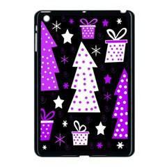 Purple Playful Xmas Apple iPad Mini Case (Black)