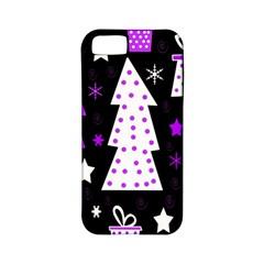 Purple Playful Xmas Apple iPhone 5 Classic Hardshell Case (PC+Silicone)