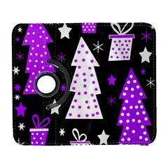Purple Playful Xmas Samsung Galaxy S  III Flip 360 Case