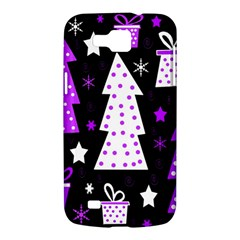 Purple Playful Xmas Samsung Galaxy Premier I9260 Hardshell Case