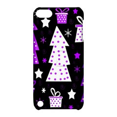 Purple Playful Xmas Apple iPod Touch 5 Hardshell Case with Stand