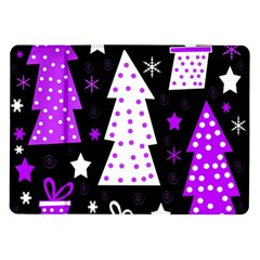 Purple Playful Xmas Samsung Galaxy Tab 10.1  P7500 Flip Case