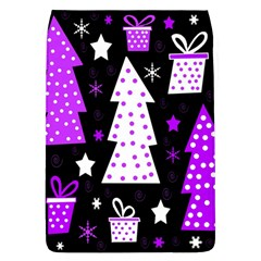 Purple Playful Xmas Flap Covers (L)
