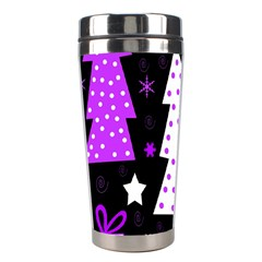 Purple Playful Xmas Stainless Steel Travel Tumblers