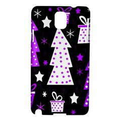Purple Playful Xmas Samsung Galaxy Note 3 N9005 Hardshell Case